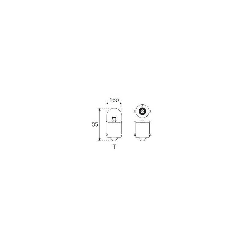 Lámpara Moto Amolux 12v 10w Piloto Ba15s 130