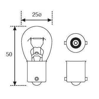 Lámpara Moto Amolux 12v 21w Stop Ba15s 142