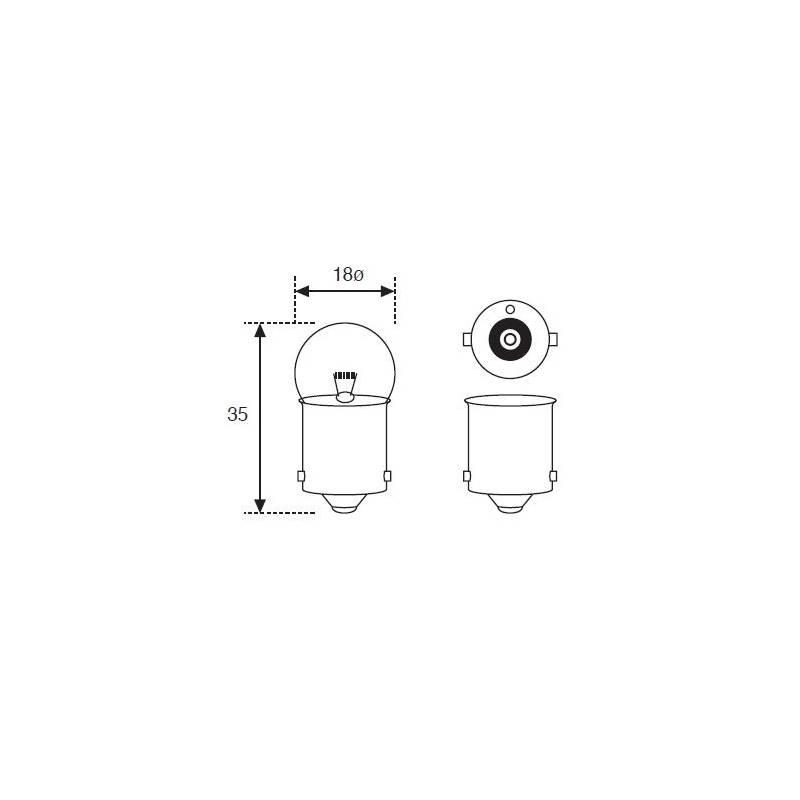 Lámpara Moto Amolux 12v 5w Piloto Ba15s 151