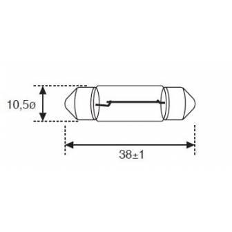 Lámpara Moto Amolux Plafonier 12v 5w 10x35 158