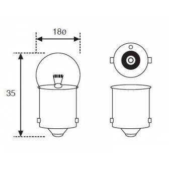 Lámpara Moto Amolux 12v 21w Piloto Ba-15 216