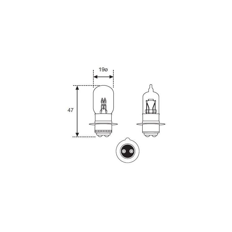 Lámpara Moto Amolux 12v 30/30w T-19 Px15d 271