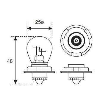 Lámpara Moto Amolux 12v 25w P26s 273