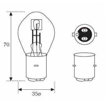 Lámpara Moto Amolux 6v 25/25w Bosch 334