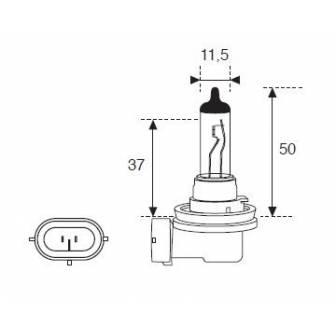 Lámpara Moto Amolux H-8 12v 35w Pgj19 50