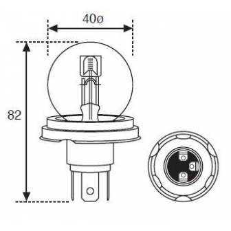 Lámpara Moto Amolux 12v 45/40w Foco Europeo 721