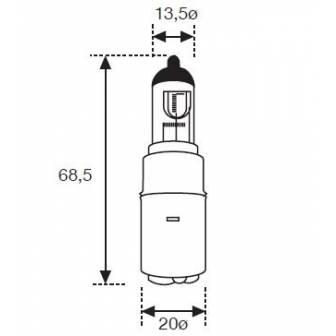 Lámpara Moto Amolux 12v 35/35w Halogena 749