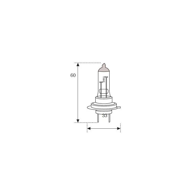 Lámpara Moto Amolux H-7 12v 55w +90% 7791exp