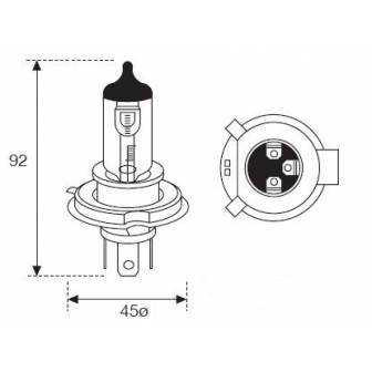 Lámpara Moto Amolux H-4 12v 60/55w P43t 782