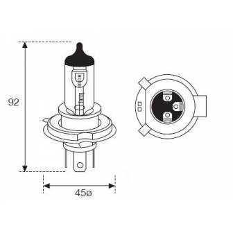LAMPARA AMOLUX H-4 12V 60/55W +130% LUZ