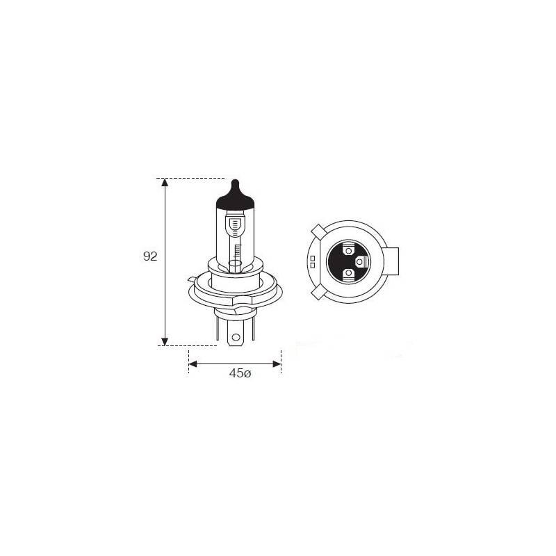 Lámpara Moto Amolux H-4 12v 60/55w +90% 782exp