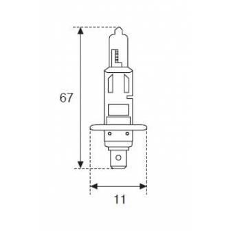 LAMPARA AMOLUX H-1 12V 55W P145s