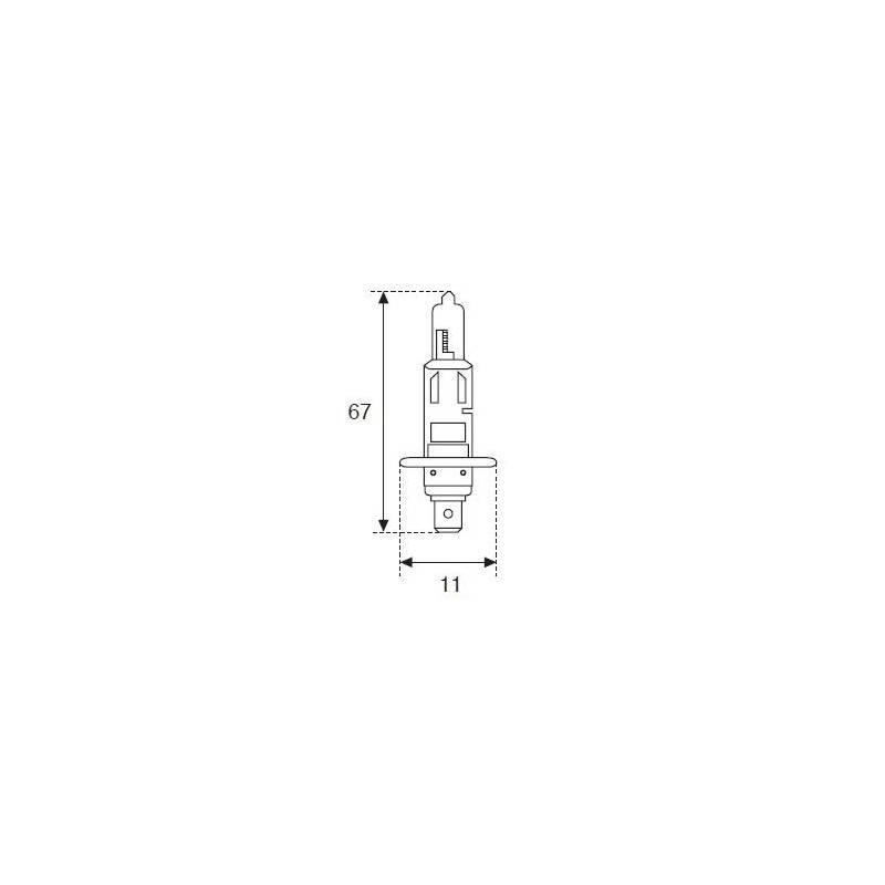Lámpara Moto Amolux H-1 12v 55w P14.5s 788