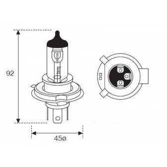 Lámpara Moto Amolux Hs1 12v 35/35w Px43t 793es