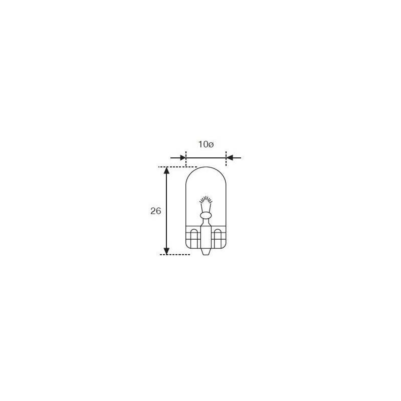 Lámpara Moto Amolux 12v 3w Cuna T-10 521