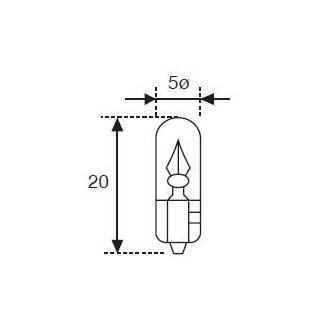 Lámpara Moto Amolux 12v 1.2w Cuna T-5 523
