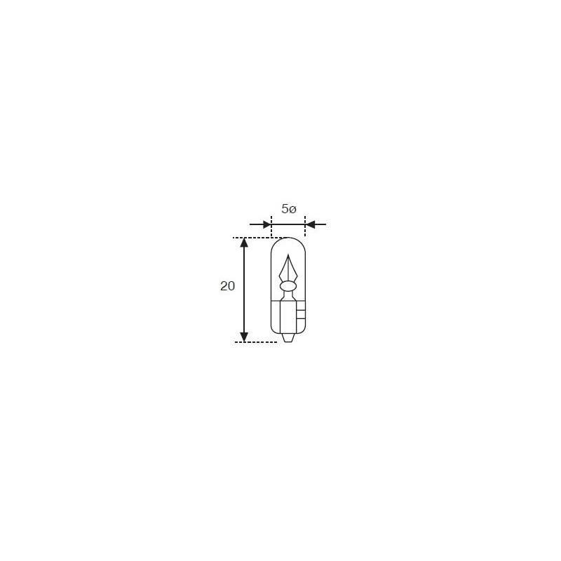 Lámpara Moto Amolux 12v 2w Cuna T-5 530