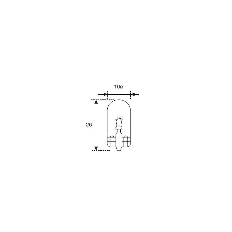 Lámpara Moto Amolux 12v 2w Cuna T-10 531