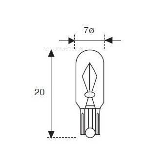 Lámpara Moto Amolux 12v 3w Cuna T-7 629