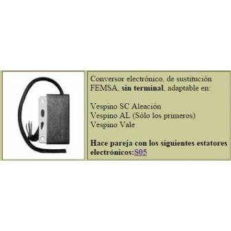 Bobina electronica LEVISTRONIC para VESPINO SIN terminal