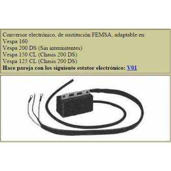 Bobina electronica LEVISTRONIC para VESPA 160-200