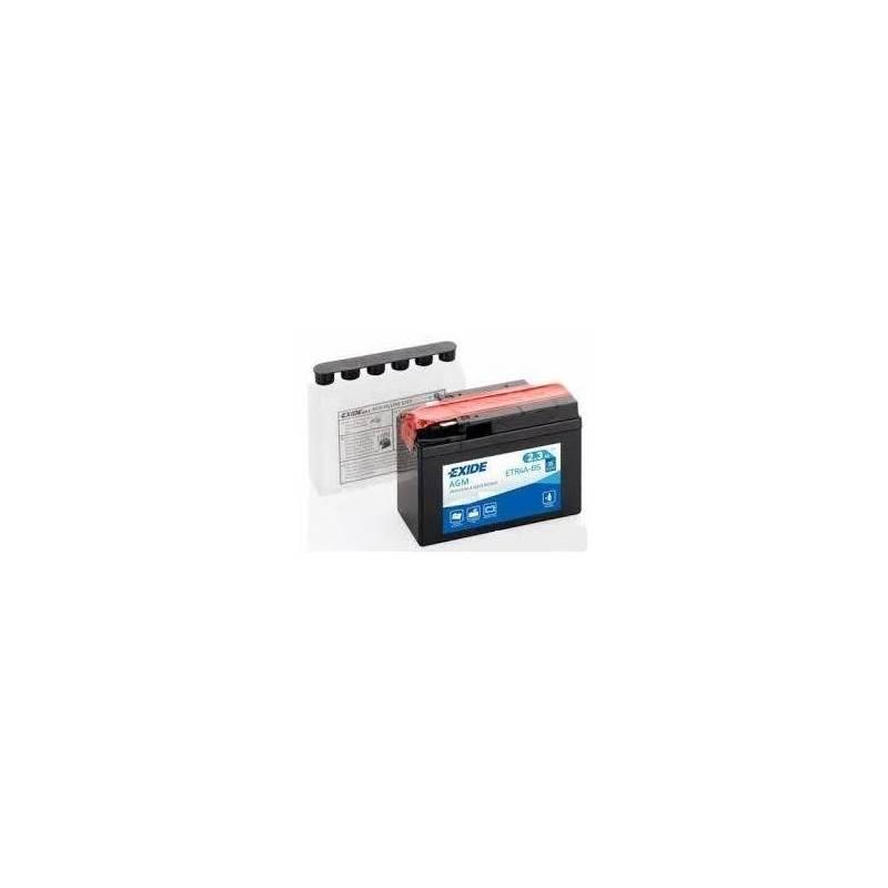 Batería EXIDE para moto modelo ETR4A-BS 12V 2.3AH