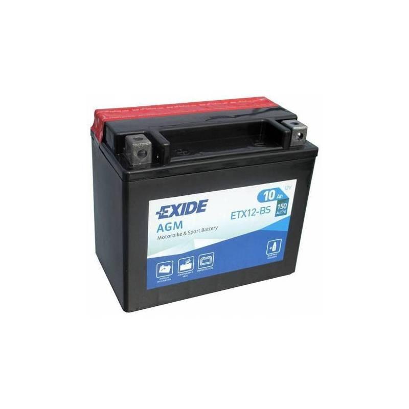 Batería EXIDE para moto modelo ETX12-BS 12V 10Ah