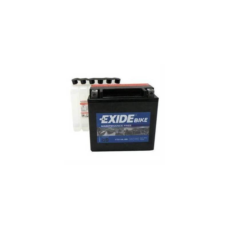 Batería EXIDE para moto modelo ETX14L-BS 12V 12AH
