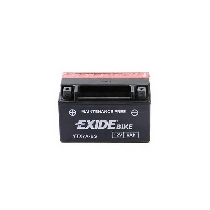 Batería EXIDE para moto modelo ETX7A-BS 12V 6Ah