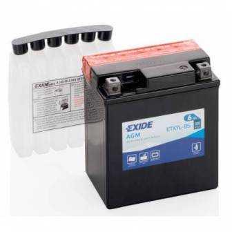 Batería EXIDE para moto modelo ETX4L-BS 12V 6Ah