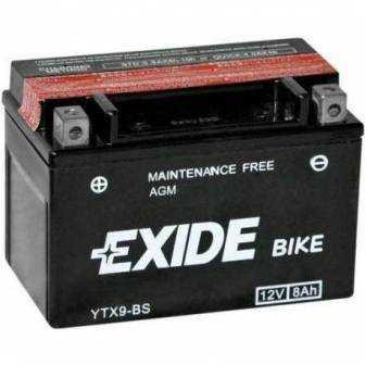 Batería EXIDE para moto modelo ETX9-BS 12V 8Ah