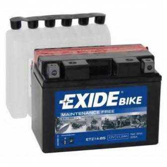Batería EXIDE para moto modelo ETZ14BS 12V 11.2Ah