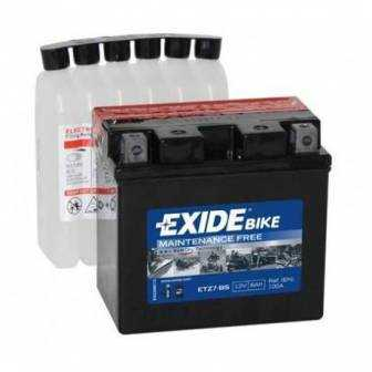 Batería EXIDE para moto modelo ETZ7BS 12V 6Ah