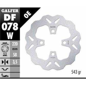 DISCO FRENO GALFER WAVE 220x3,5mm DF078W