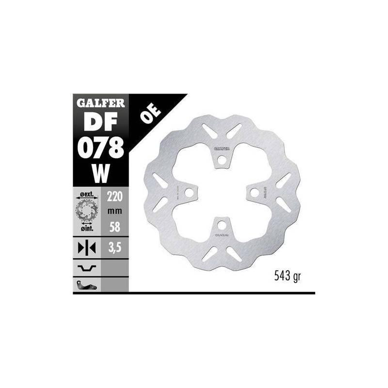Disco Freno Wave Galfer Fijo 220x3,5mm Df078w