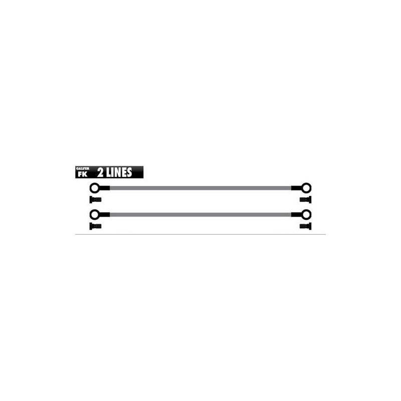 Latiguillo Galfer 2 Tubos negros FK103C207 Delantero