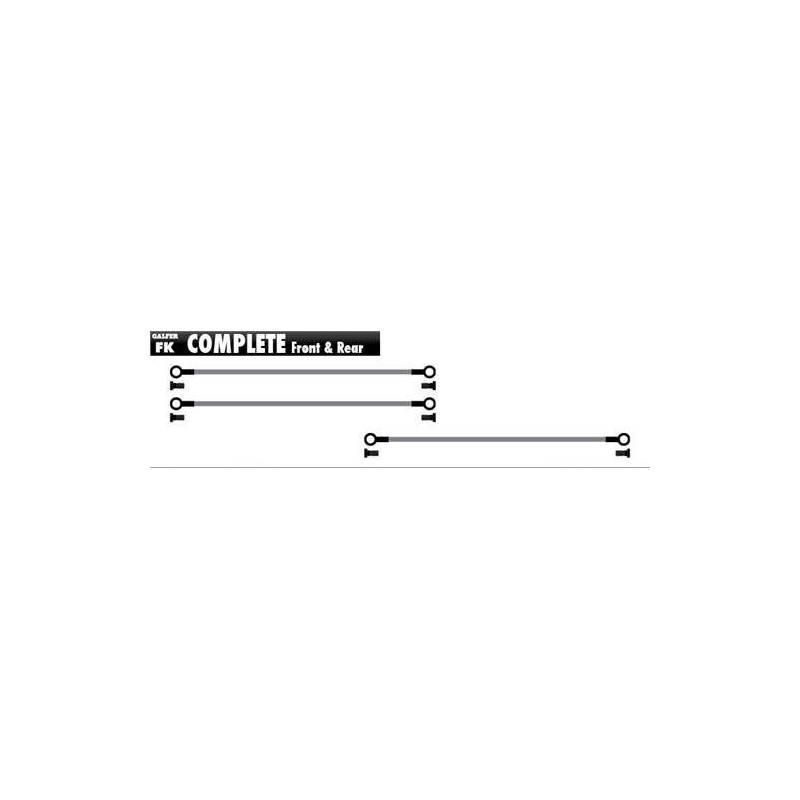 Latiguillo Galfer Set Completo negros FK103C660