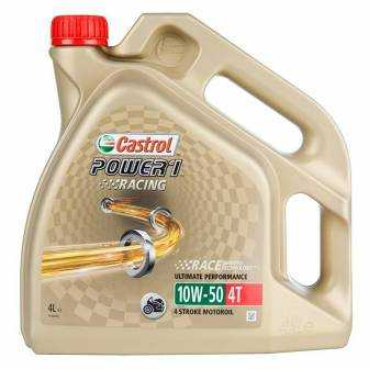 Aceite CASTROL moto POWER1 RACING 4T 10W50 4 LITROS