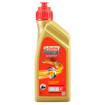 Aceite CASTROL moto POWER 1 SCOOTER 4T 5W40 1 LITRO