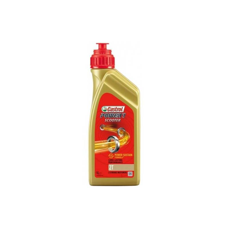 Aceite CASTROL moto POWER 1 Scooter 2T 1litro