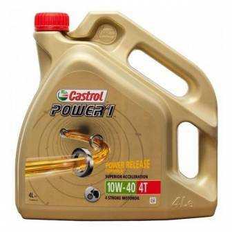 Aceite CASTROL moto POWER 1 4T 10W40 4 LITROS