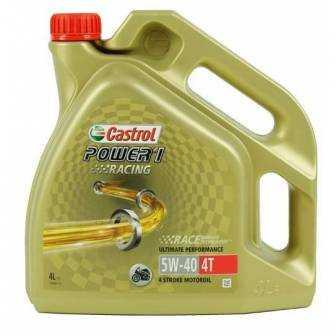 Aceite CASTROL moto POWER 1 4T RACING 5W40 4litros