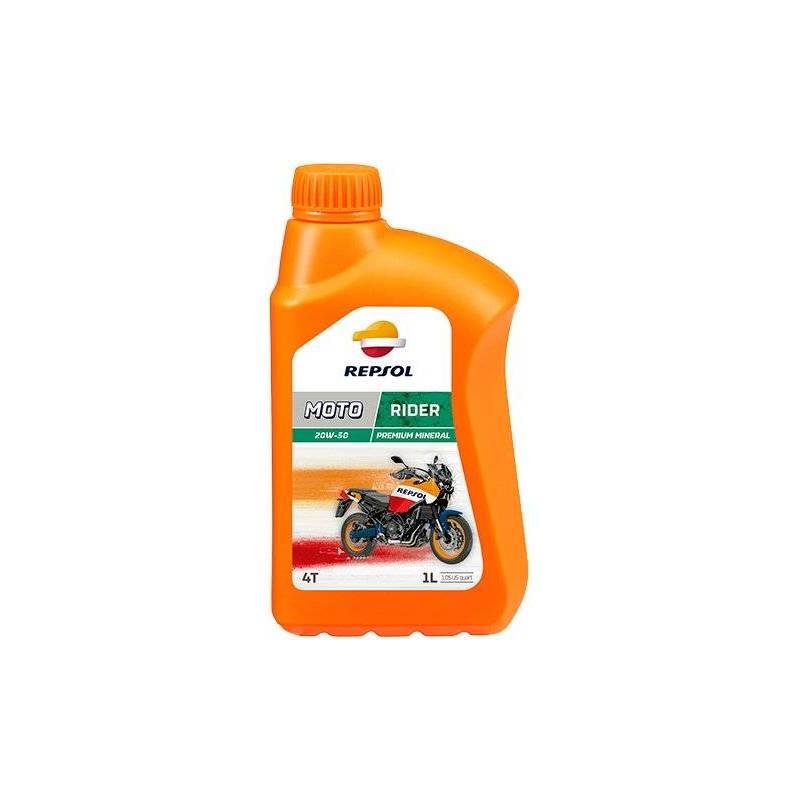 Aceite REPSOL moto RIDER 20W50 1 LITRO