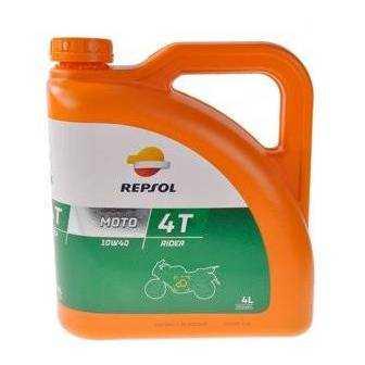 Aceite REPSOL moto RIDER 4T 10W40 4 LITROS