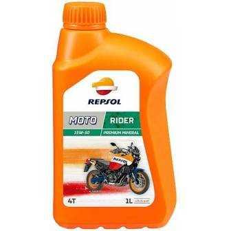 Aceite REPSOL moto RIDER 4T 15W50 1 LITRO