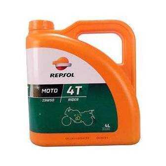 Aceite REPSOL moto RIDER 4T 15W50 4 LITROS