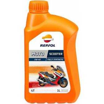 Aceite REPSOL moto SCOOTER 4T 5W40 1 LITRO