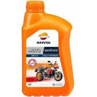 Aceite REPSOL moto SINTETICO 4T 10W40 1 LITRO