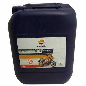 Aceite REPSOL moto SINTETICO 4T 10W40 20 LITROS