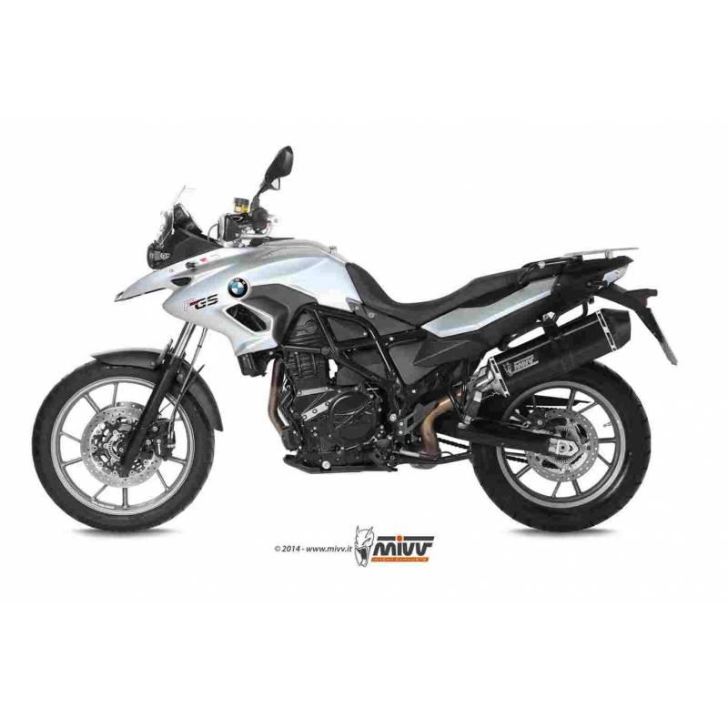 MIVV Bmw F 700 Gs 2012- Speed Edge Steel Black B.014.Lrb